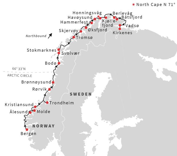 Norway - The Cruise North | Calgary Adventure Travel & Luxury Tours