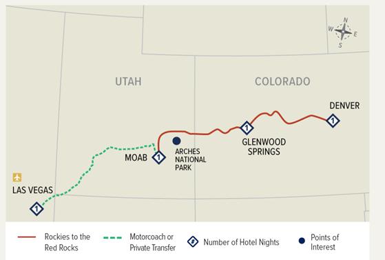 Rocky Mountaineer Luxury Train - Rockies to the Red Rocks, USA | Calgary Adventure Travel & Luxury Tours