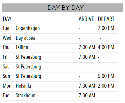 Jewels of The Baltic Sea Cruise   Calgary Adventure Travel & Luxury Tours
